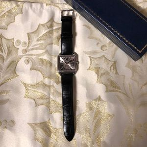 Couture Style Square Roman Numeral Strap Watch